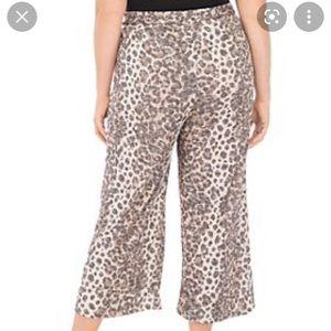 🎁5/100🎁 Animal print flowy cropped lounge pants
